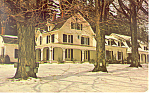 William Cullen Bryant Home,Cummington,MA Postcard 1977