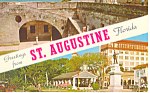 Greetings From St Augustine Florida  Postcard n1052 1964