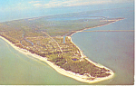 Aerial View of Sanibel Island Florida  Postcard n1053 1998