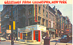 Chinatown New York City New York Postcard n1096