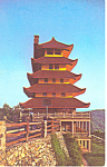 Rock Garden Pagoda, Reading, PA Postcard