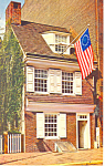 Click here to enlarge image and see more about item n1127: Betsy Ross House Philadelphia PA Postcard n1127