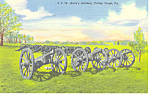 Knox's Artillery Valley Forge PA Postcard n1138