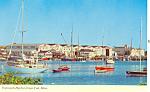 Falmouth Harbor, Cape Cod MA Postcard