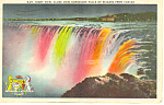 Night View Horseshoe Falls, Niagara Falls Postcard