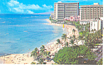 Waikiki Beach  Hawaii View of Hotels n1201