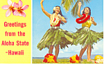 Lovely Hula Maidens Hawaii Postcard n1211