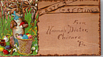 Click here to enlarge image and see more about item n1260: Easter Greetings Wood Postcard
