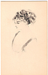 Click here to enlarge image and see more about item n1269: Sketch of Lady Postcard n1269