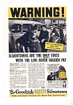 Goodrich Life-Saver Golden Ply  Tire AD nov1651 1930s