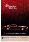 Click here to enlarge image and see more about item olds13: 1966 Oldsmobile Toronado Ad