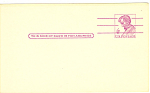Click here to enlarge image and see more about item p20013: UX48 4 Cent Red Violet Lincoln Postal Card