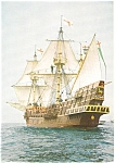 Golden Hinde Sailing Ship Postcard p0035