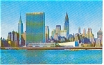 Mid Manhattan Skyline New York City Postcard p0049