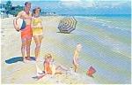 Beach Scene Morrisville PA Postcard