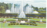 Click here to enlarge image and see more about item p0142: Fountains at Longwood Gardens PA Postcard