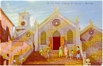 Click here to enlarge image and see more about item p0225: St.Paul's Church Bermuda  Postcard