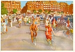 Click here to enlarge image and see more about item p0234: Cyclists in Copenhagen Denmark Postcard p0234