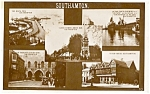 Click here to enlarge image and see more about item p0238: Southampton England Multiview  Postcard p0238