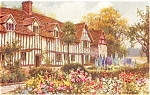 Click here to enlarge image and see more about item p0240: Mary Ardens s House Stratford on Avon England  Postcard p0240