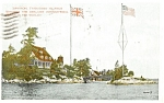 Click here to enlarge image and see more about item p0249: Zavikon Thousand Islands Canada Postcard p0249