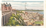 Click here to enlarge image and see more about item p0257: Lower Town Quebec Canada Postcard p0257