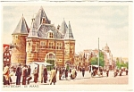 Click here to enlarge image and see more about item p0271: Amsterdam De Waag Postcard