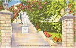 Click here to enlarge image and see more about item p0322: Columbus Statute Bahamas Postcard