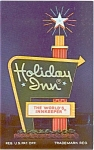 Click here to enlarge image and see more about item p0332: Holiday Inn Sign CA Postcard p0332