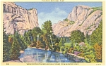 Click here to enlarge image and see more about item p0397: Yosemite National Park Half Dome Royal Arches CA Postcard p0397