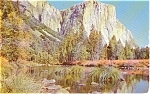 Click here to enlarge image and see more about item p0398: Yosemite El Capitan CA Postcard