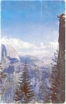 Yosemite National  Park CA Glacier Point Postcard p0405