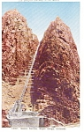 Scenic Incline Royal Gorge CO Postcard p0441