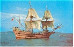Mayflower II Starboard Side  Postcard p0444