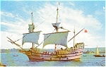 Mayflower II Port Side  Postcard p0445