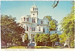 Governor's Mansion California Postcard