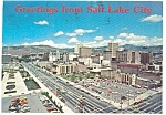 Aerial View Salt Lake City UT Postcard