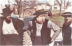 Click here to enlarge image and see more about item p0532: Amish Men at Public Sale PA Postcard