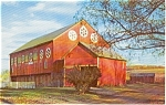 Pennsylvania Dutch Country Barn Postcard p0553
