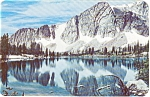 Mirror Lake Snowy Range Wyoming  Postcard p0570