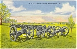 Click here to enlarge image and see more about item p0585: Knox's Artillery Valley Forge PA Postcard
