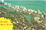Airview of Miami Beach FL Postcard