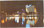 Lake Pancoast Miami Beach FL Postcard p0692