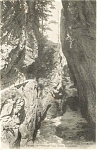Click here to enlarge image and see more about item p0696: Gorges de l Areuse French Postcard p0696