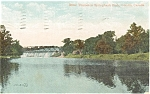 Click here to enlarge image and see more about item p0701: River Thames London Ontario Canada Postcard p0701
