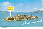 Click here to enlarge image and see more about item p0724: Alcatraz Island CA Postcard p0724