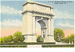 Click here to enlarge image and see more about item p0759: National Memorial Arch Valley Forge PA Postcard p0759