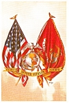 Click here to enlarge image and see more about item p0764: Marine Corp Painting Postcard