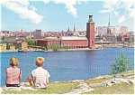 Click here to enlarge image and see more about item p0769: Stockholm Sweden City Hall Postcard p0769