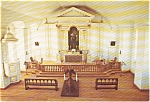 Click here to enlarge image and see more about item p0783: Interior The Garrison Chapel Louisbourg Pcard